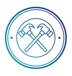 hammers crossed tools isolated icon vector image