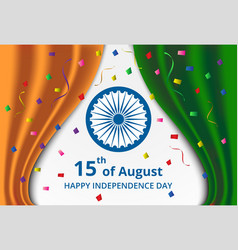 Happy Indian Independence Day celebration vector image