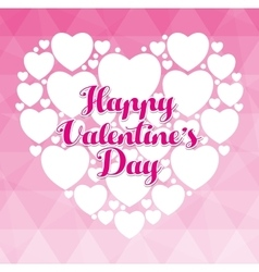 Happy valentines day colorful card vector image