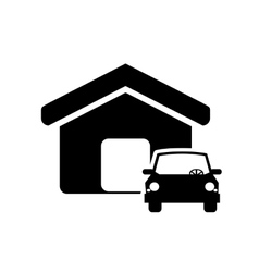 house and car icon vector image vector image