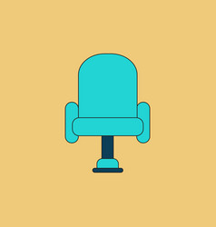 In flat style cineama chair vector