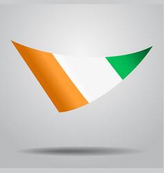 ivorian flag background vector image vector image