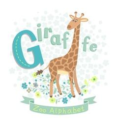 Letter g - giraffe vector