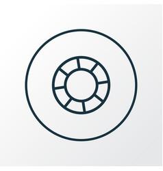lifebuoy icon line symbol premium quality vector image