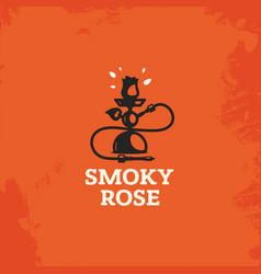Modern professional sign logo smoky rose vector