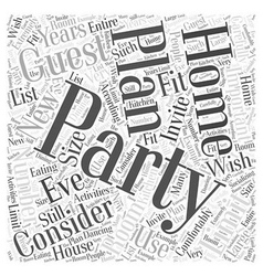 Planning a new years eve party in your home word vector