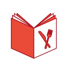 recipe book isolated icon vector image