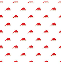 Red christmas santa claus hat pattern vector