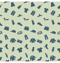 Seamless pattern with clothes footwear and vector image