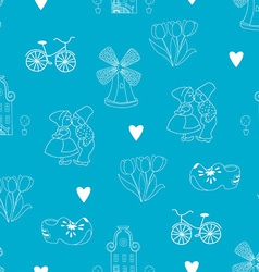 Seamless pattern with Dutch ornaments vector image vector image