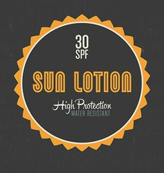 Sun Lotion Design vector image
