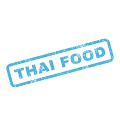 Thai food rubber stamp vector