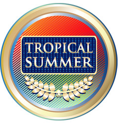 Tropical summer icon vector