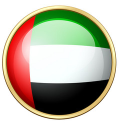United arab emirates flag on round icon vector