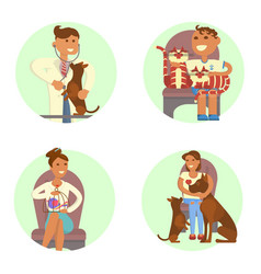 Veterinary clinic interior vector