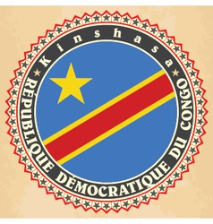 Vintage label cards of democratic republic of the vector