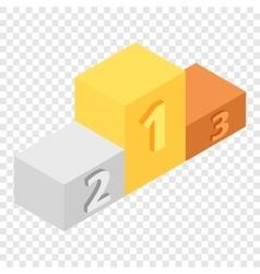 Winners podium isometric 3d icon vector image vector image