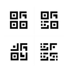 Barcode and qr code design vector