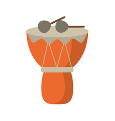 drum djembe percussion african vector image