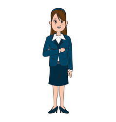 Cartoon character businesswoman standing with vector