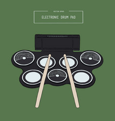 Electronic drum pad kit sketch vector