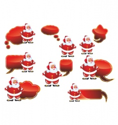 Santa labels set vector