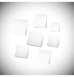 White note papers with shadow on gray background vector