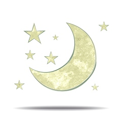 Climate moon and stars vector