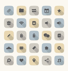 Flat Design Website Icons Set vector image