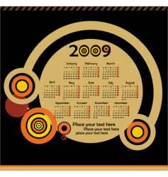 2009calendar vector image