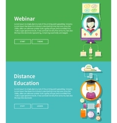Webinar and distance education vector