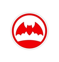 Icon sticker realistic design on paper bat vector