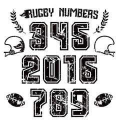Rugby numbers for t shirt vector