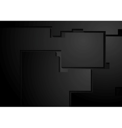 Black corporate geometric background vector