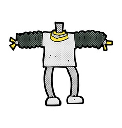 Comic cartoon robot body mix and match comic vector