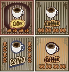 Set of coffee banners for restaurants cafes vector