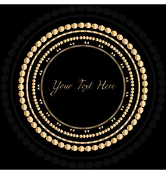 Frame with gold pattern on circle for you text vector