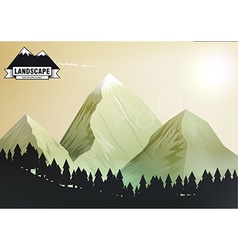 Landscape mountain background eps 10 vector