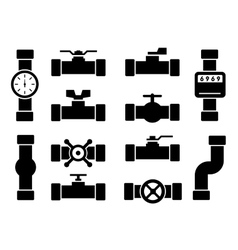Isolated pipes icons vector