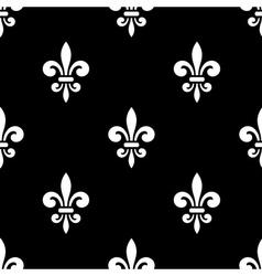 Golden fleur-de-lis seamless pattern black 5 vector image
