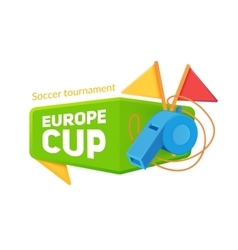 Europe soccer cup badge vector