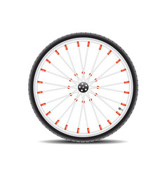 Bicycle wheel and shadow vector