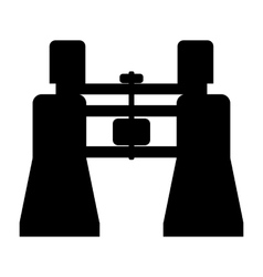Binocular simple icon vector