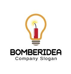Bomber design idea vector