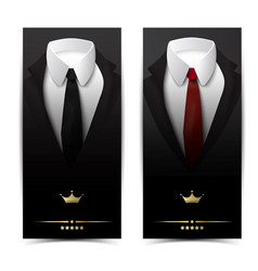 business clothing vertical banners vector image