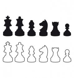 Chessmen symbols vector