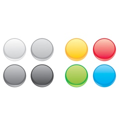 Colorful web button set vector image