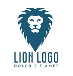 Company logo design lions head template logotype vector