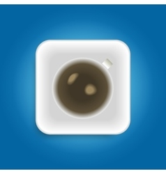 Cup with coffee vector image vector image
