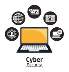 Cyber security technology data privacy network vector